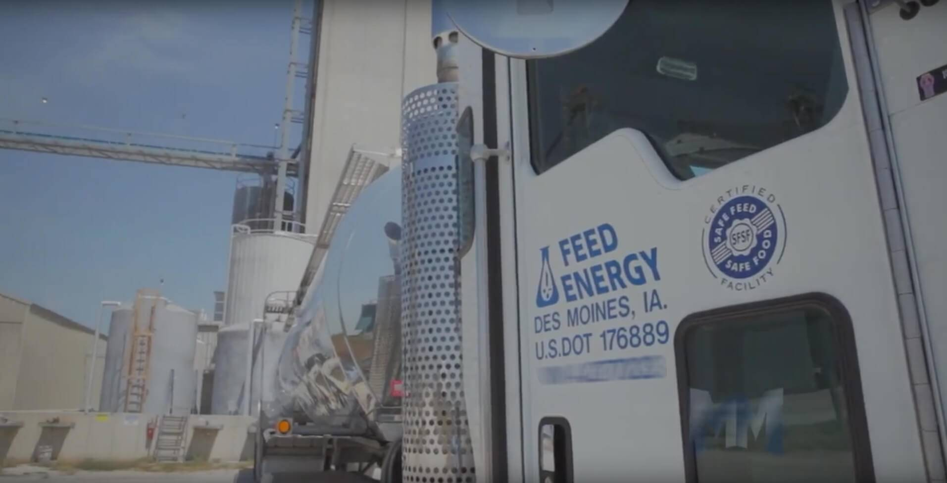 A door of a Feed Energy Truck.