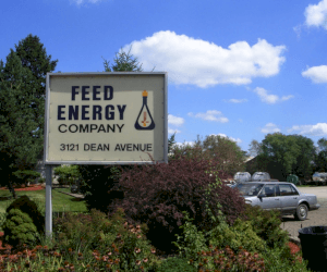 A picture of the Feed Energy sign